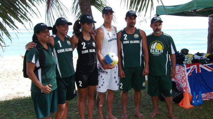 Cook Islands National Beach Volleyball Team - New Caledonia South Pacific Games